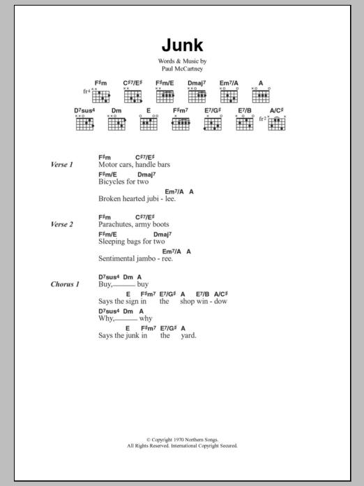 Junk Sheet Music