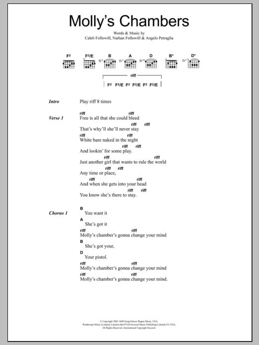 Molly's Chambers Sheet Music