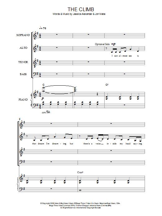 The Climb (SATB Choir)