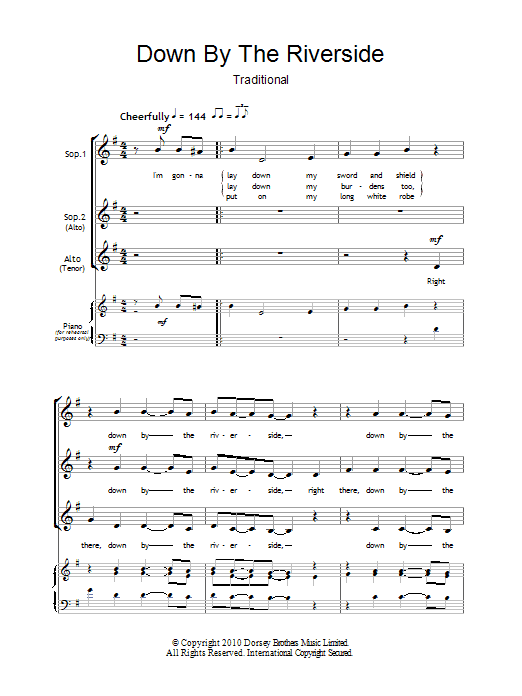 Down By The Riverside (arr. Barrie Carson Turner) Partition Digitale