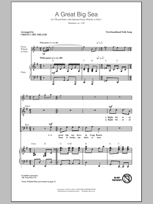 A Great Big Sea Sheet Music