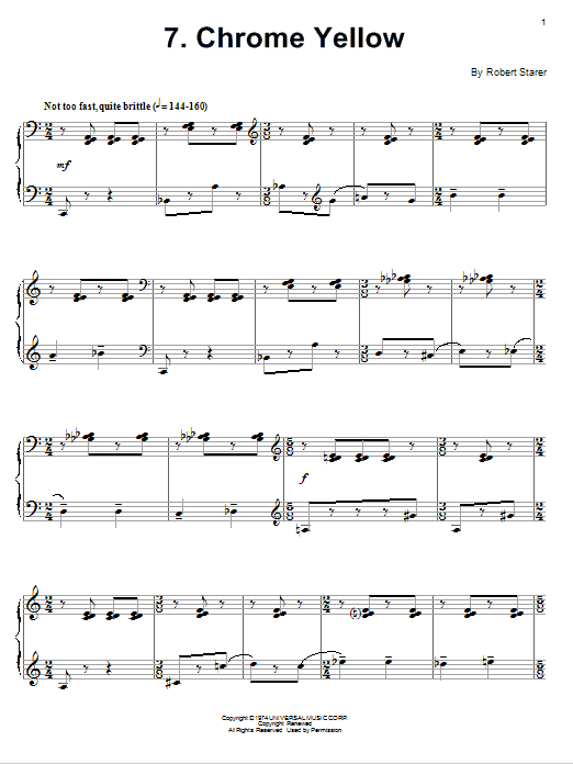 Chrome Yellow Sheet Music