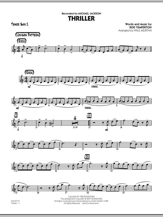 Thriller - Tenor Sax 2 (Jazz Ensemble)