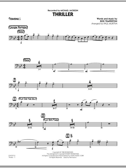 Thriller - Trombone 1 (Jazz Ensemble)
