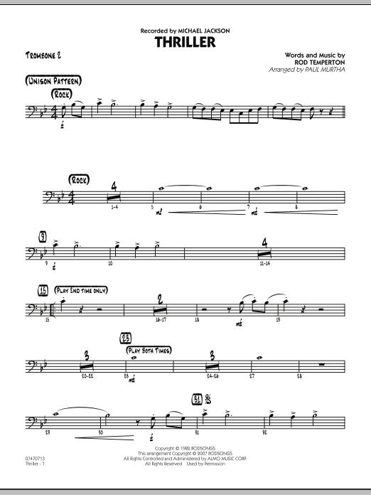 Thriller - Trombone 2 (Jazz Ensemble)