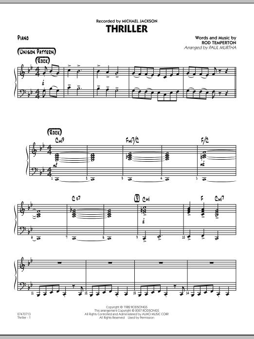 Thriller - Piano (Jazz Ensemble)