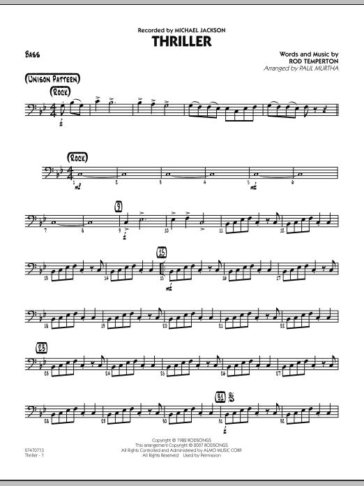 Thriller - Bass (Jazz Ensemble)