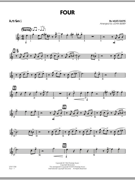Four - Alto Sax 1 (Jazz Ensemble)