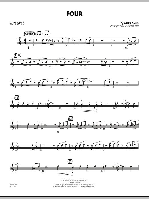 Four - Alto Sax 2 (Jazz Ensemble)