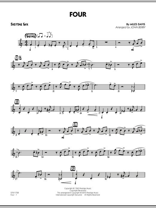 Four - Baritone Sax (Jazz Ensemble)