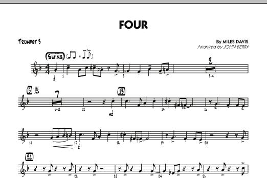 Four - Trumpet 3 (Jazz Ensemble)