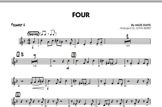 Four - Trumpet 4 (Jazz Ensemble)