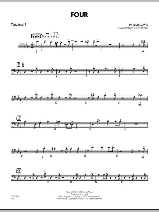 Four - Trombone 2 (Jazz Ensemble)