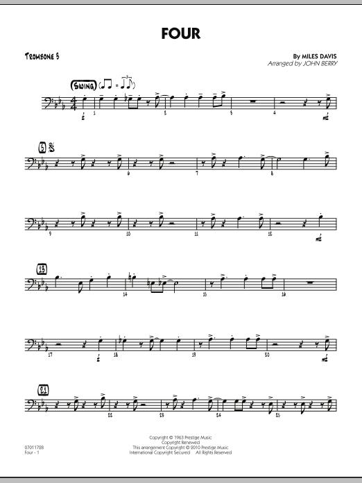 Four - Trombone 3 (Jazz Ensemble)