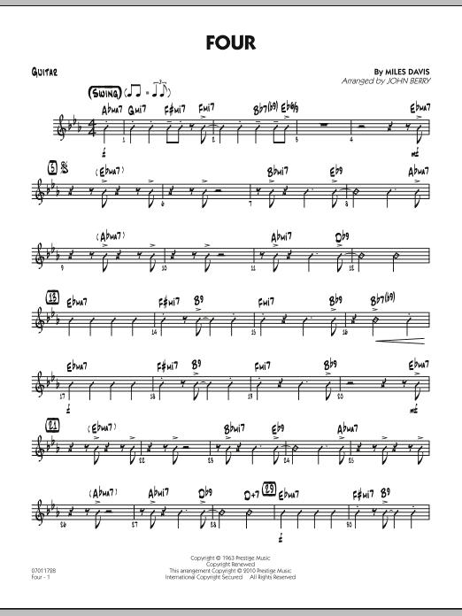 Four - Guitar (Jazz Ensemble)