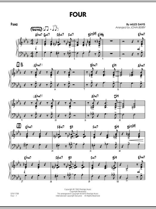 Four - Piano (Jazz Ensemble)