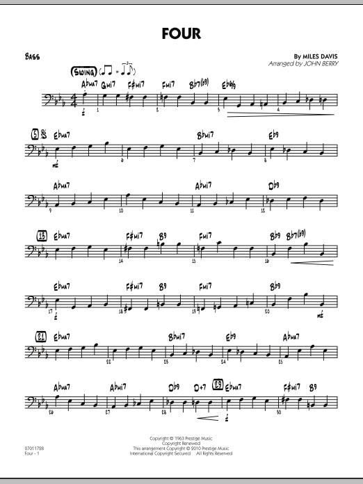 Four - Bass (Jazz Ensemble)
