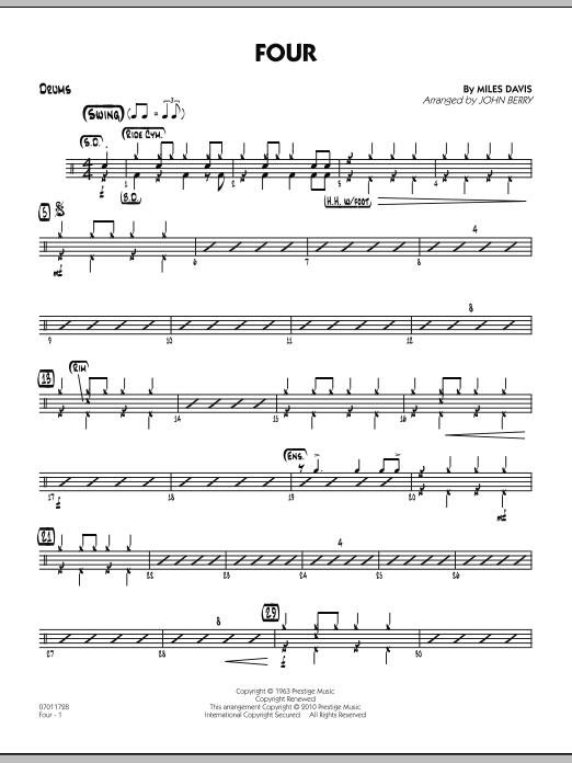 Four - Drums (Jazz Ensemble)