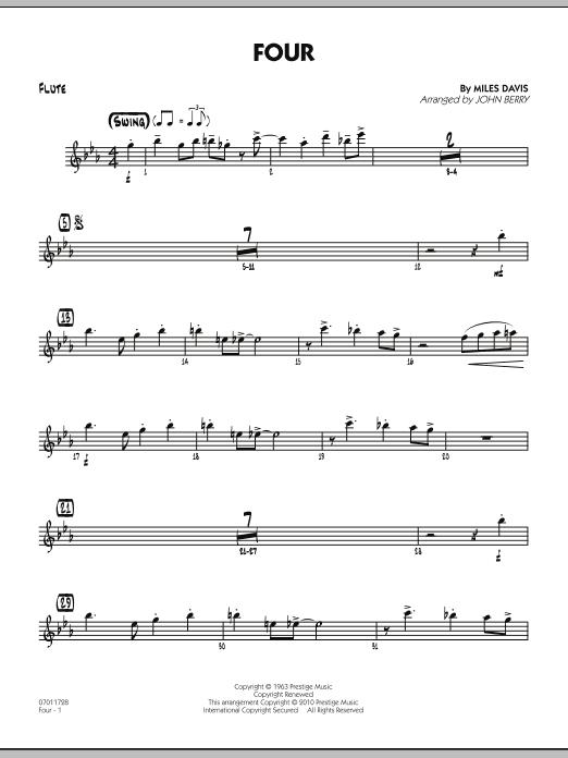 Four - Flute (Jazz Ensemble)