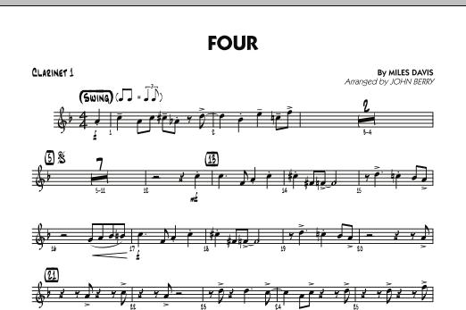Four - Bb Clarinet 1 (Jazz Ensemble)