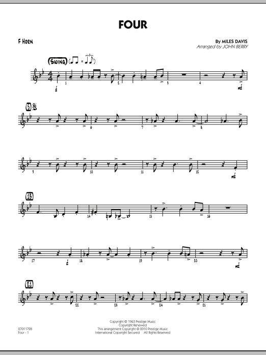 Four - F Horn (Jazz Ensemble)