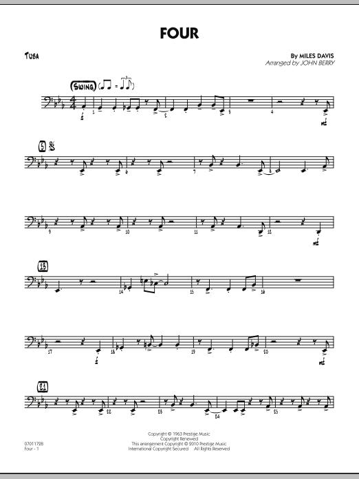 Four - Tuba (Jazz Ensemble)