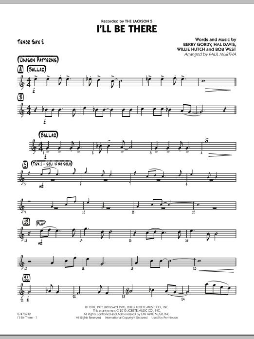 I'll Be There - Tenor Sax 2 (Jazz Ensemble)