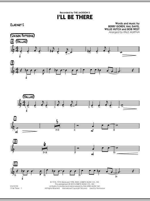 I'll Be There - Bb Clarinet 2 (Jazz Ensemble)