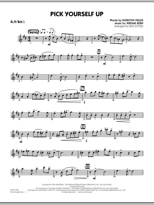 Pick Yourself Up - Alto Sax 1 (Jazz Ensemble)