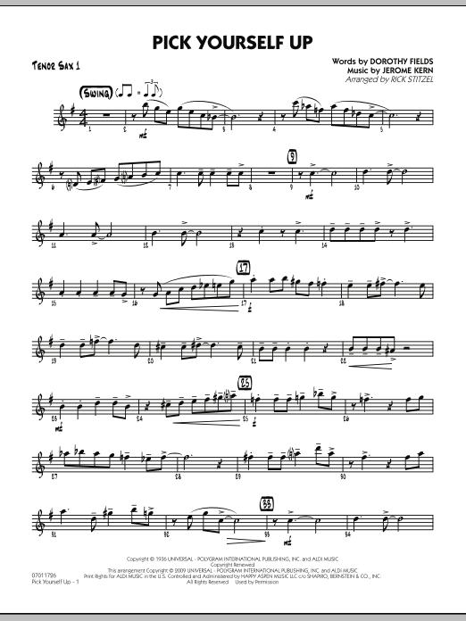 Pick Yourself Up - Tenor Sax 1 (Jazz Ensemble)