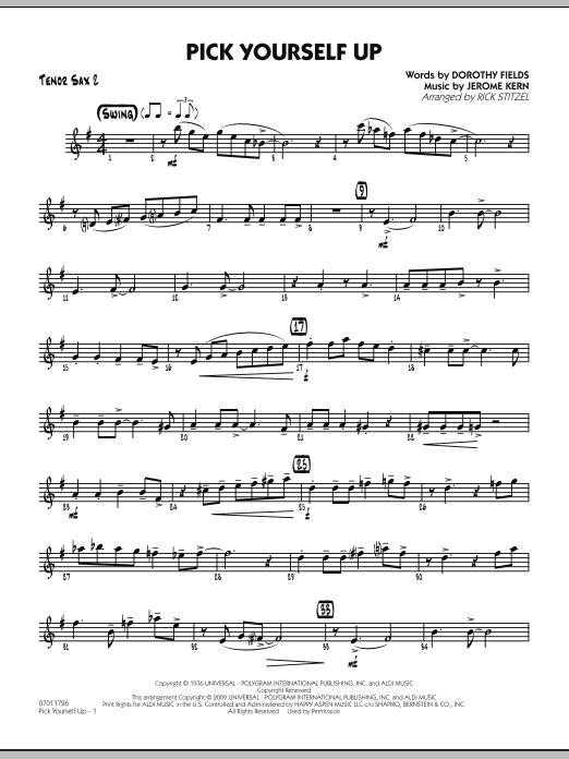 Pick Yourself Up - Tenor Sax 2 (Jazz Ensemble)
