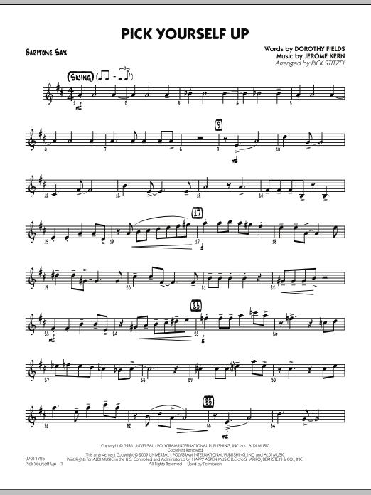 Pick Yourself Up - Baritone Sax (Jazz Ensemble)