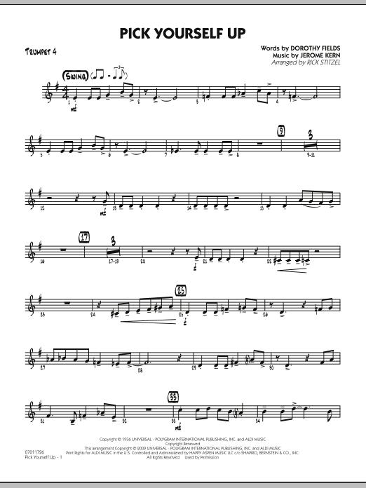 Pick Yourself Up - Trumpet 4 (Jazz Ensemble)