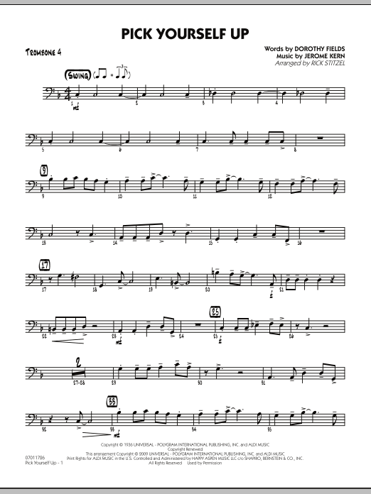 Pick Yourself Up - Trombone 4 (Jazz Ensemble)