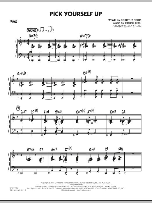 Pick Yourself Up - Piano (Jazz Ensemble)