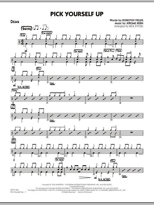Pick Yourself Up - Drums (Jazz Ensemble)