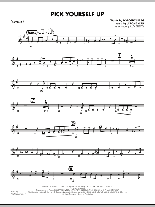 Pick Yourself Up - Clarinet 1 (Jazz Ensemble)