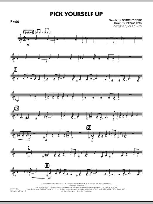Pick Yourself Up - F Horn (Jazz Ensemble)