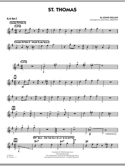 St. Thomas - Alto Sax 2 (Jazz Ensemble)