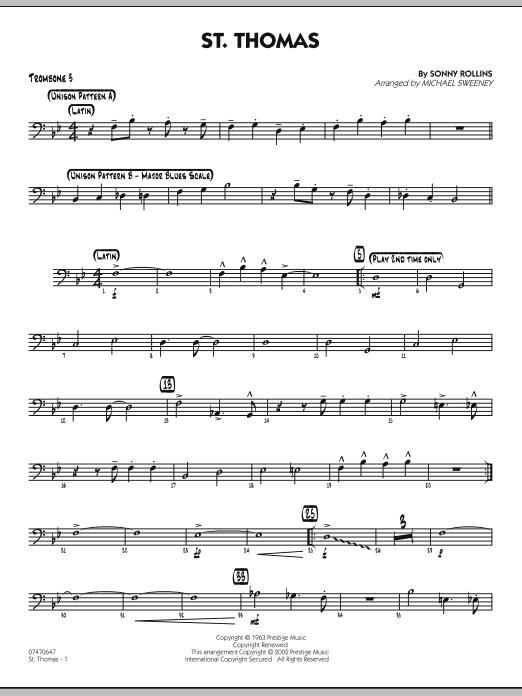 St. Thomas - Trombone 3 (Jazz Ensemble)