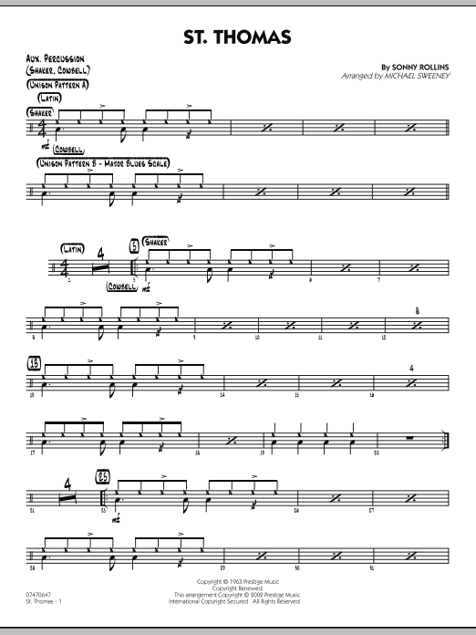 St. Thomas - Aux Percussion (Jazz Ensemble)