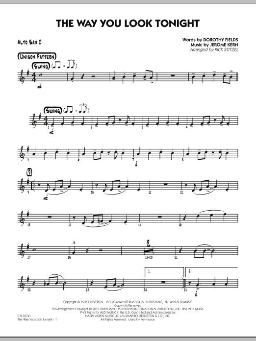The Way You Look Tonight - Alto Sax 2 (Jazz Ensemble)