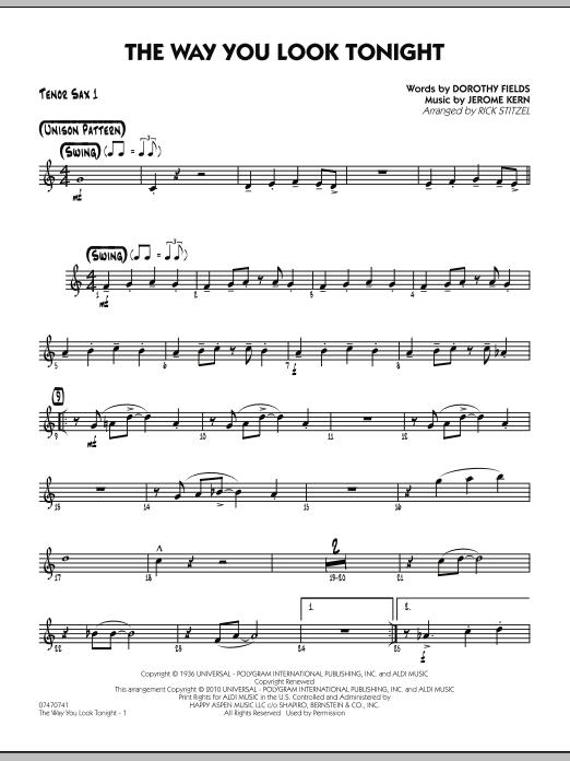 The Way You Look Tonight - Tenor Sax 1 (Jazz Ensemble)