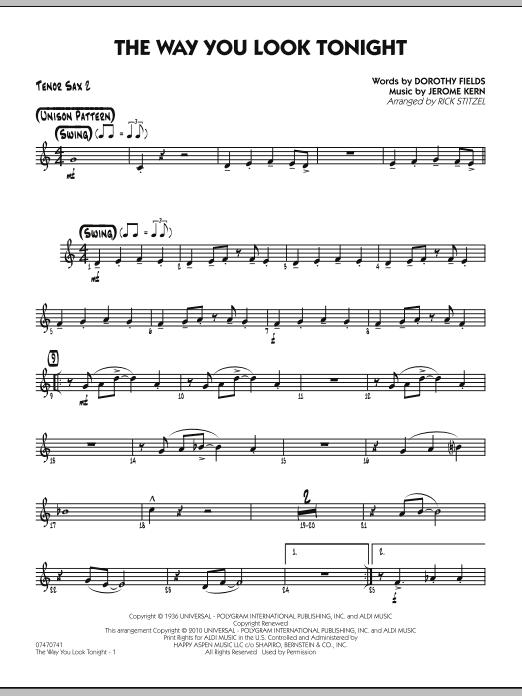 The Way You Look Tonight - Tenor Sax 2 (Jazz Ensemble)