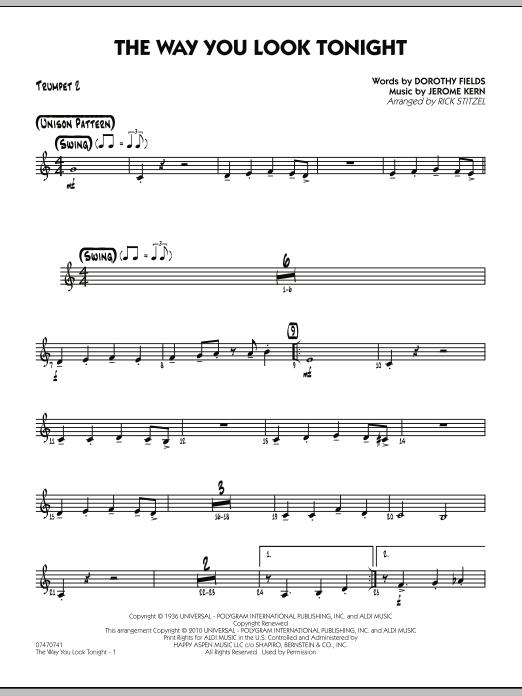 The Way You Look Tonight - Trumpet 2 (Jazz Ensemble)