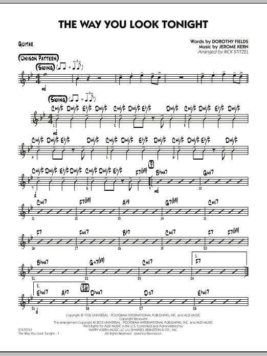 The Way You Look Tonight - Guitar (Jazz Ensemble)