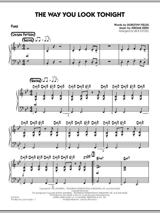 The Way You Look Tonight - Piano (Jazz Ensemble)