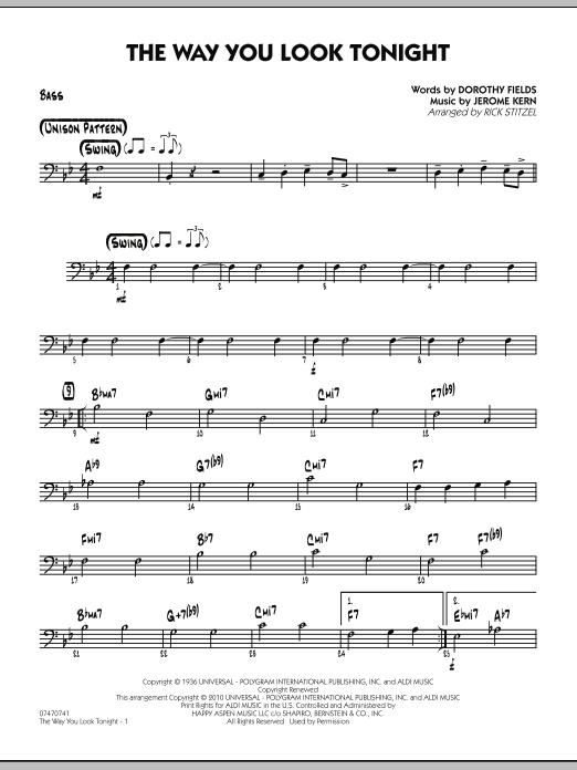 The Way You Look Tonight - Bass (Jazz Ensemble)