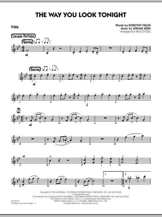 The Way You Look Tonight - Vibes (Jazz Ensemble)