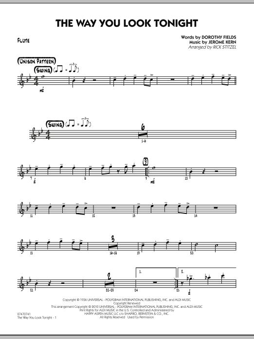 The Way You Look Tonight - Flute (Jazz Ensemble)